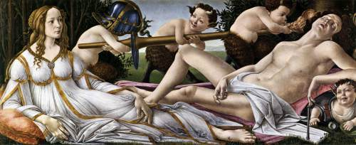 Sandro Botticelli, Italy, Venus and Mars, 1483